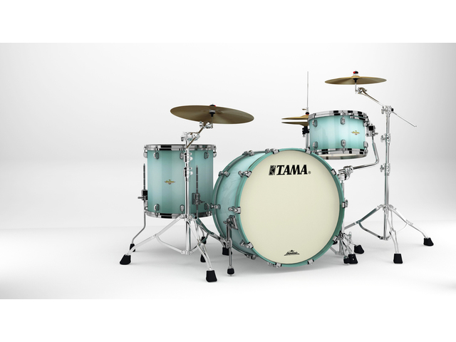 "Shell Set Tama Starclassic Maple MA34CZBNS-LJB Light Jade Burst, 24"", 13"", 16"", Zwart Nikkel Hardware"