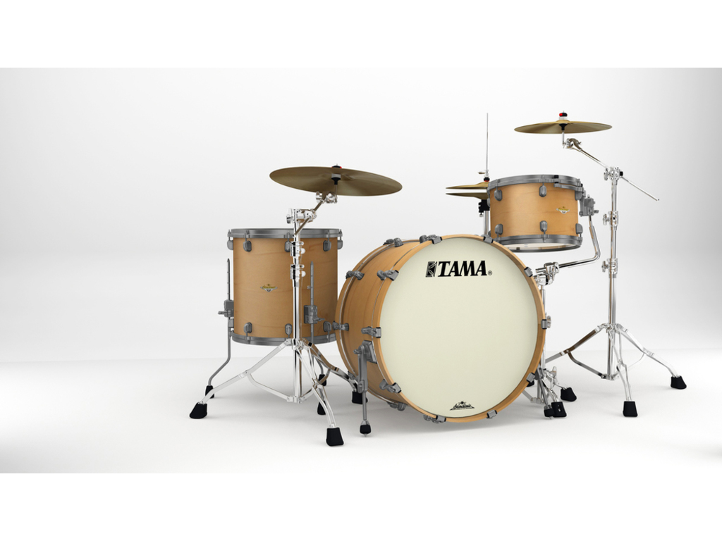 "Shell Set Tama Starclassic Maple MA34CZUS-VAM Vintage Antique Maple, 24"", 13"", 16"", Smoked Zwart Nikkel Hardware"