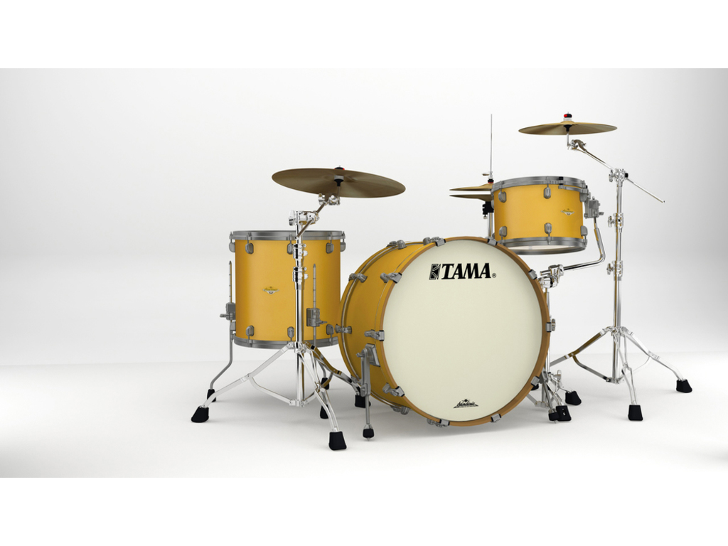 "Shell Set Tama Starclassic Maple MA34CZUS-SAM Satin Aztec Gold Metallic, 24"", 13"", 16"", Smoked Zwart Nikkel Hardware"