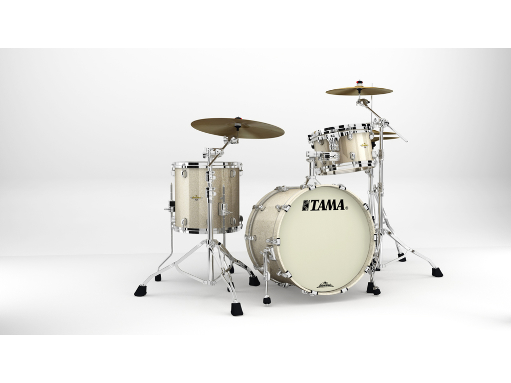 "Shell Set Tama Starclassic Maple MA30CMS-CHS Champagne Sparkle, 20"", 12"", 14"", Chrome Hardware"