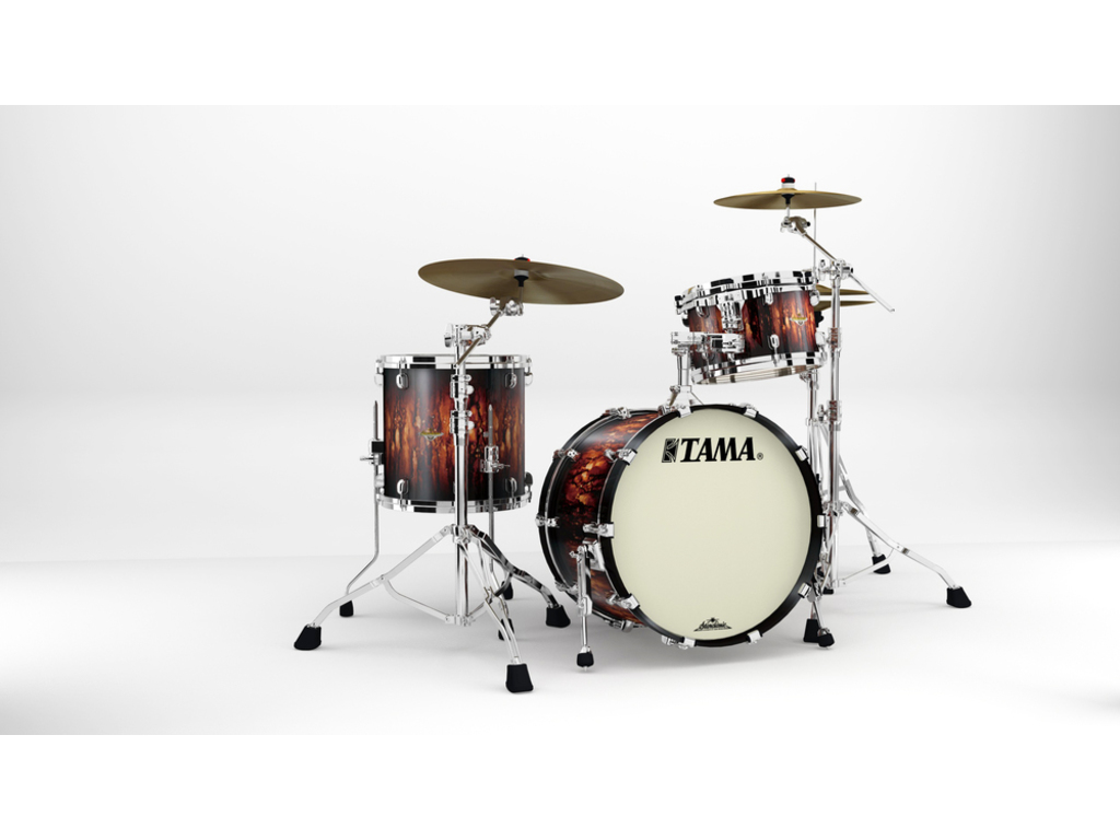 "Shell Set Tama Starclassic Maple MA30CMS-MBB Molten Satin Brown Burst, 20"", 12"", 14"", Chrome Hardware"