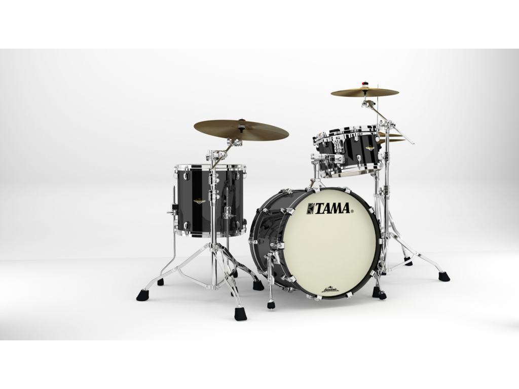"Shell Set Tama Starclassic Maple MA30CMS-PBK Piano Black, 20"", 12"", 14"", Chrome Hardware"