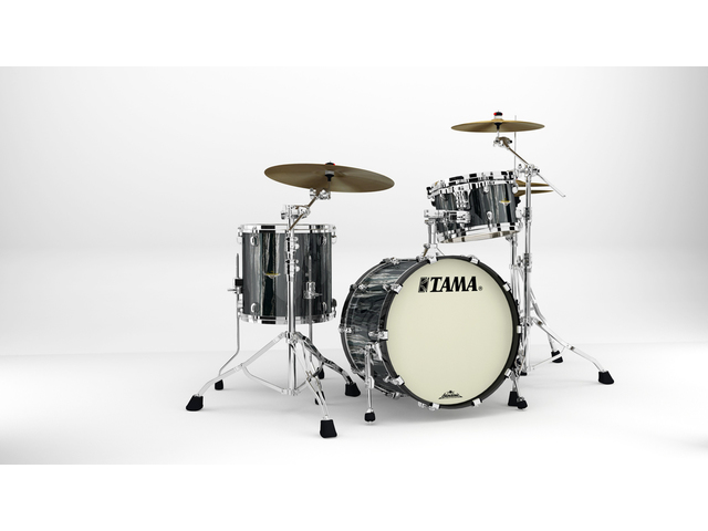 "Shell Set Tama Starclassic Maple MA30CMS-BCS Black Clouds & Silver Linings, 20"", 12"", 14"", Chrome Hardware"