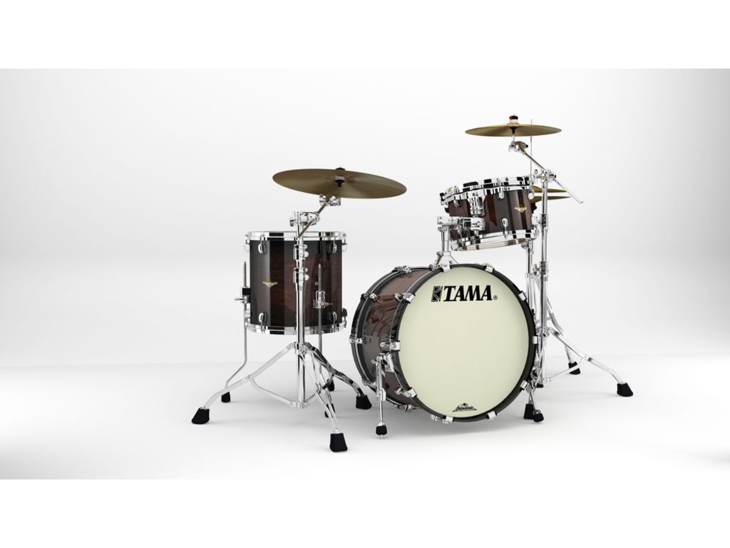 "Shell Set Tama Starclassic Maple MA30CMS-DMB Dark Mocha Burst, 20"", 12"", 14"", Chrome Hardware"