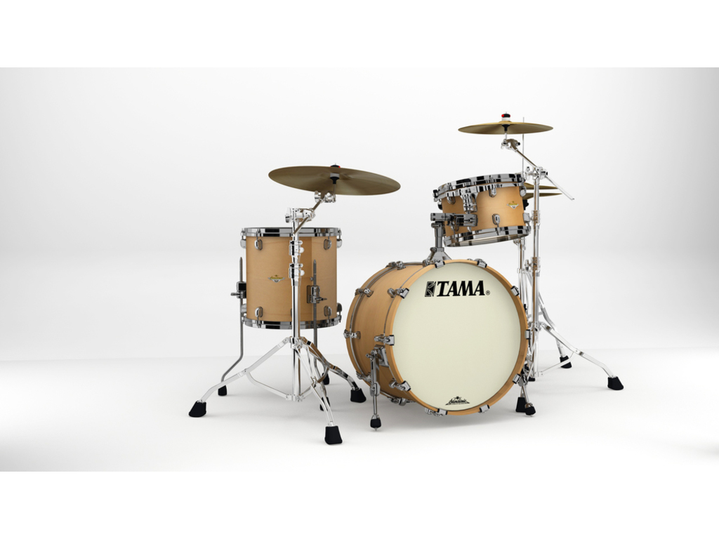"Shell Set Tama Starclassic Maple MA30CMBNS-VAM Vintage Antique Maple, 20"", 12"", 14"", Zwart Nikkel Hardware"