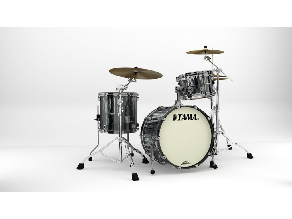 "Shell Set Tama Starclassic Maple MA30CMBNS-BCS Black Clouds & Silver Linings, 20"", 12"", 14"", Zwart Nikkel Hardware"