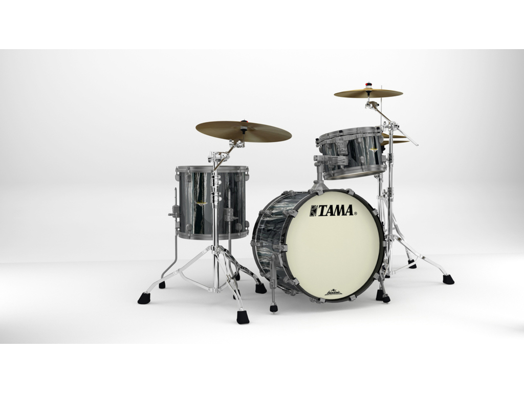 "Shell Set Tama Starclassic Maple MA30CMUS-BCS Black Clouds & Silver Linings, 20"", 12"", 14"", Smoked Zwart Nikkel Hardware"