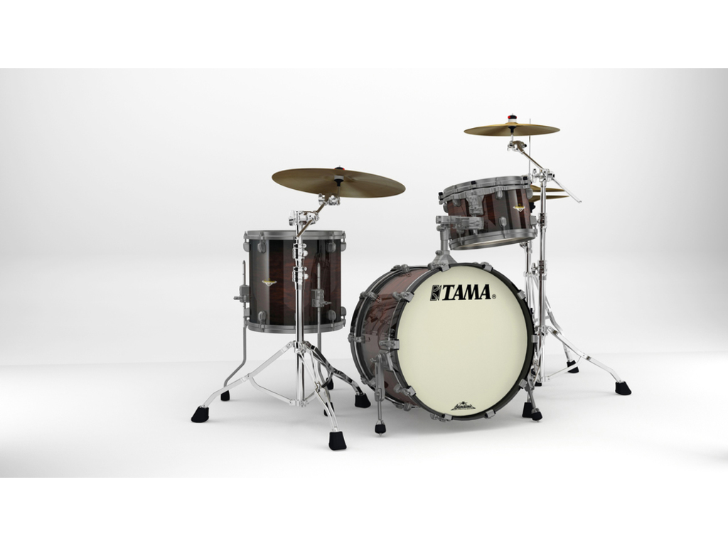 "Shell Set Tama Starclassic Maple MA30CMUS-DMB Dark Mocha Burst, 20"", 12"", 14"", Smoked Zwart Nikkel Hardware"