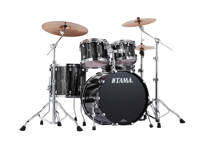 "Shell Set Tama Starclassic Performer B/B PP42S-BCS Black Clouds & Silver Linnings, 22"", 10"", 12"", 16"", MTH1000 Tom Houder"