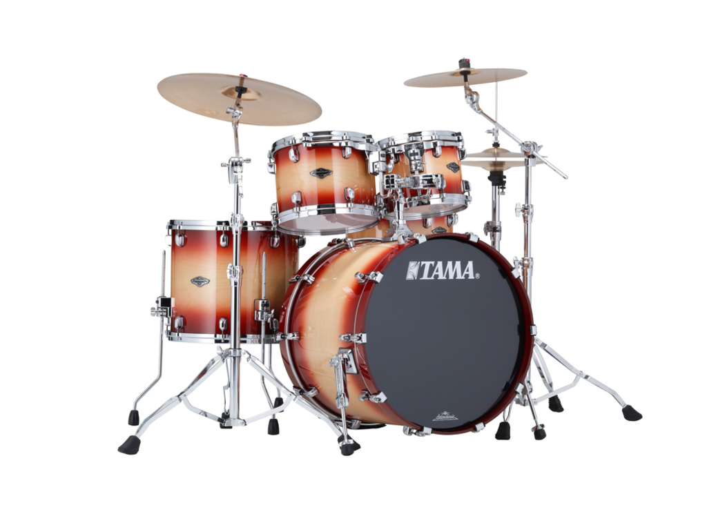 "Shell Set Tama Starclassic Performer B/B PS42S-CNT Cherry Natural Burst, 22"", 10"", 12"", 16"", MTH1000 Tom Houder"