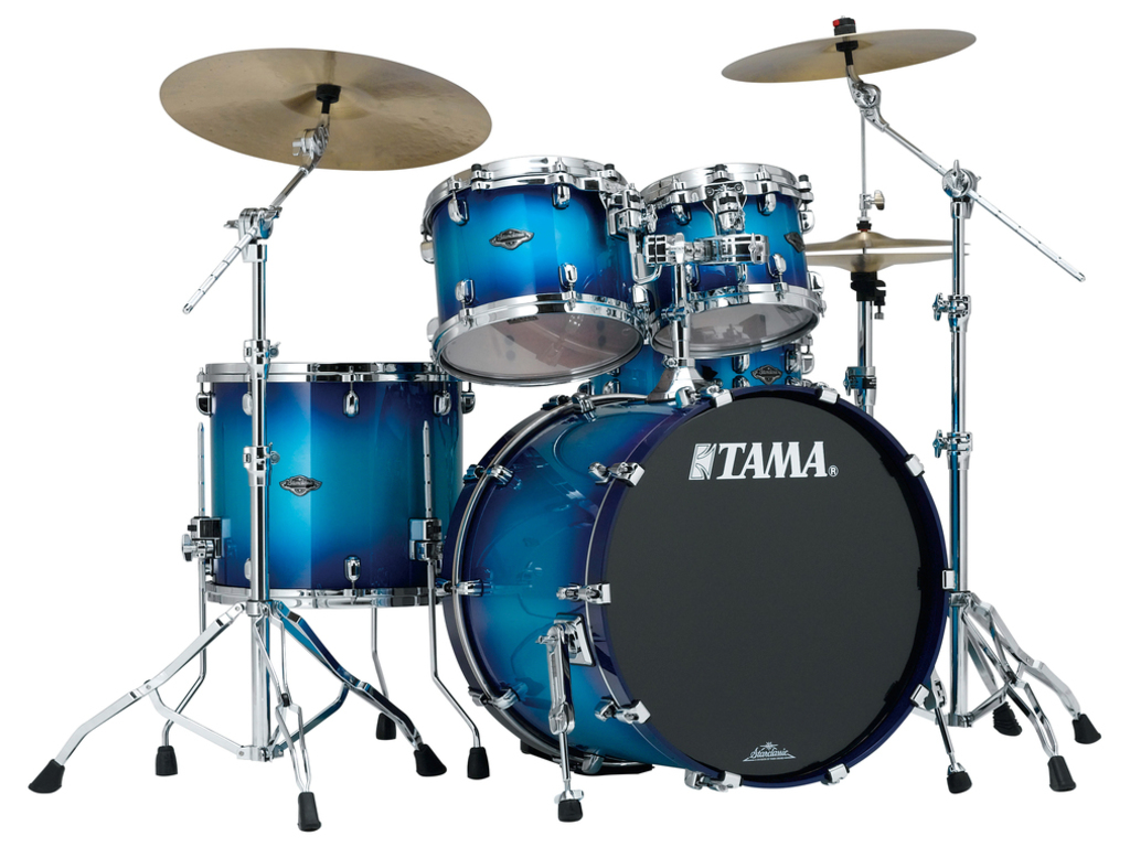 "Shell Set Tama Starclassic Performer B/B PS42S-TWB Twilight Blue Burst, 22"", 10"", 12"", 16"", MTH1000 Tom Houder"