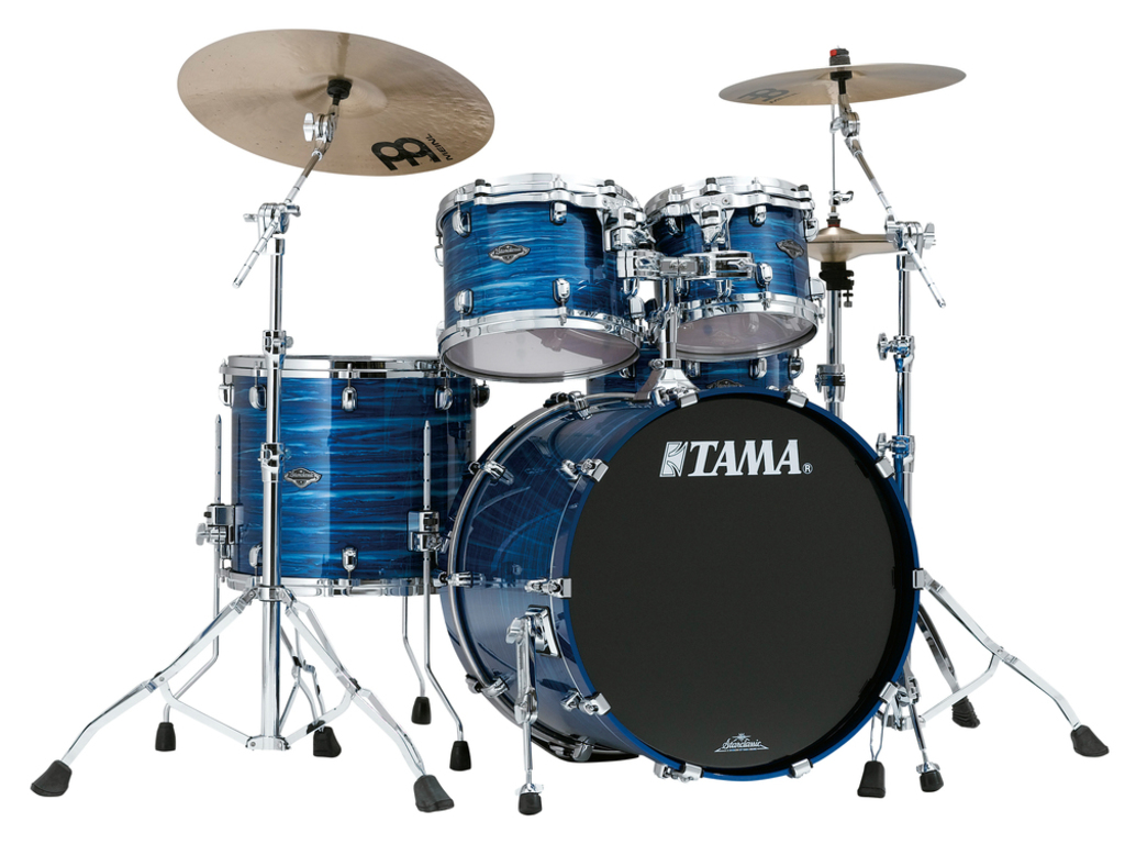"Shell Set Tama Starclassic Performer B/B PS42S-LOR Lacquer Ocean Blue Ripple, 22"", 10"", 12"", 16"", MTH1000 Tom Houder"