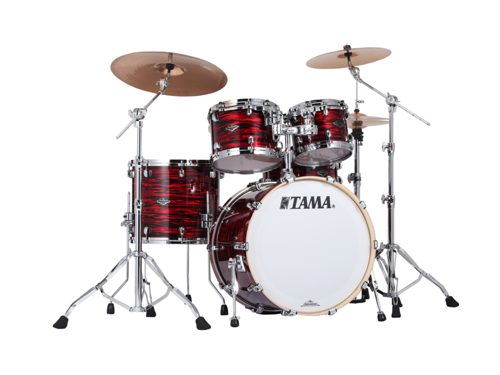"Shell Set Tama Starclassic Performer B/B PR42S-ROY Red Oyster, 22"", 10"", 12"", 16"", MTH1000 Tom Houder"
