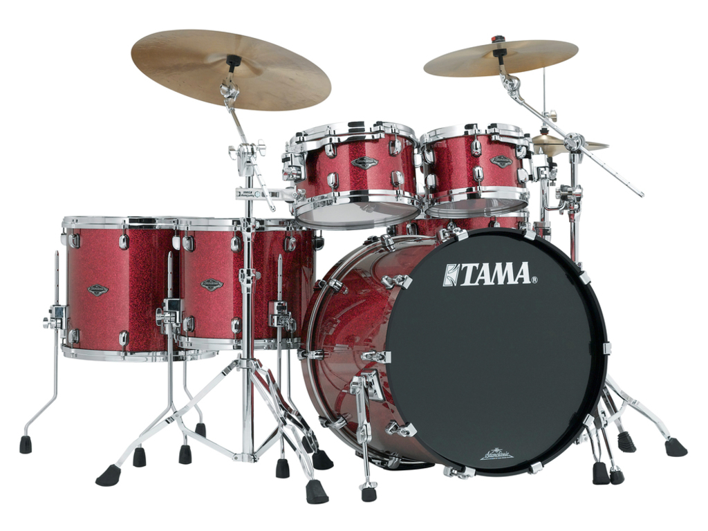 "Shell Set Tama Starclassic Performer B/B PP52HZS-CRD Coral Red Sparkle, 22"", 10"", 12"", 14"", 16"", MC69 Tom Houder"