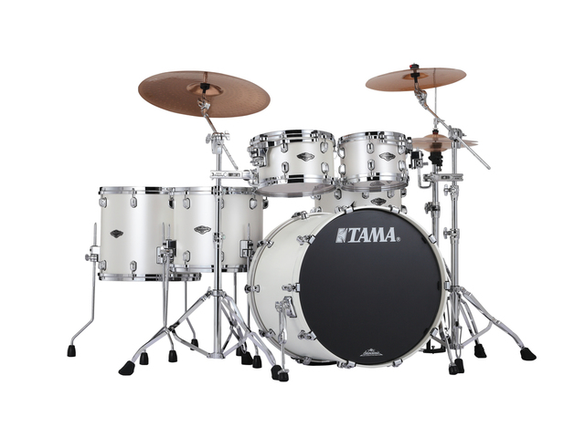 "Shell Set Tama Starclassic Performer B/B PP52HZS-SPW Satin Pearl White, 22"", 10"", 12"", 14"", 16"", MC69 Tom Houder"