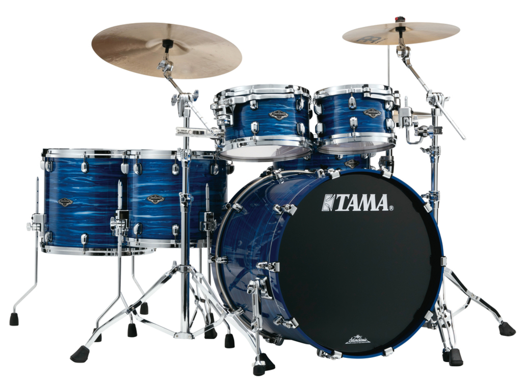 "Shell Set Tama Starclassic Performer B/B PS52HZS-LOR Lacquer Ocean Blue Ripple, 22"", 10"", 12"", 14"", 16"", MC69 Tom Houder"
