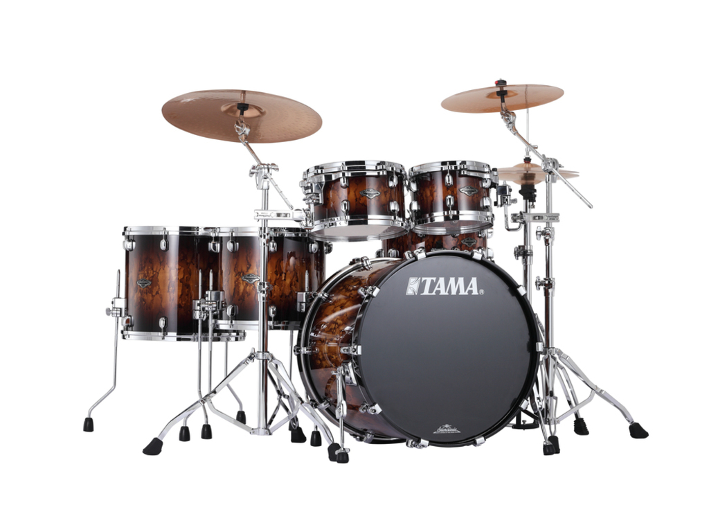 "Shell Set Tama Starclassic Performer B/B PS52HZS-MBR Molten Brown Burst, 22"", 10"", 12"", 14"", 16"", MC69 Tom Houder"