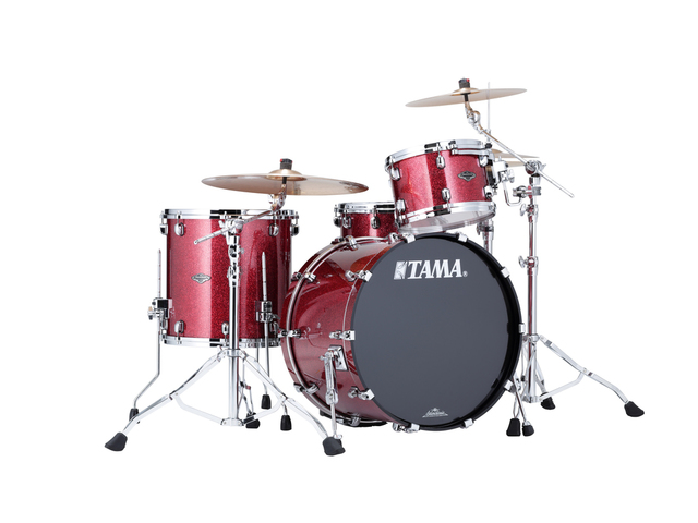 "Shell Set Tama Starclassic Performer B/B PP32RZS-CRD Coral Red Sparkle, 22"", 12"", 16"", MC69 Tom Houder"