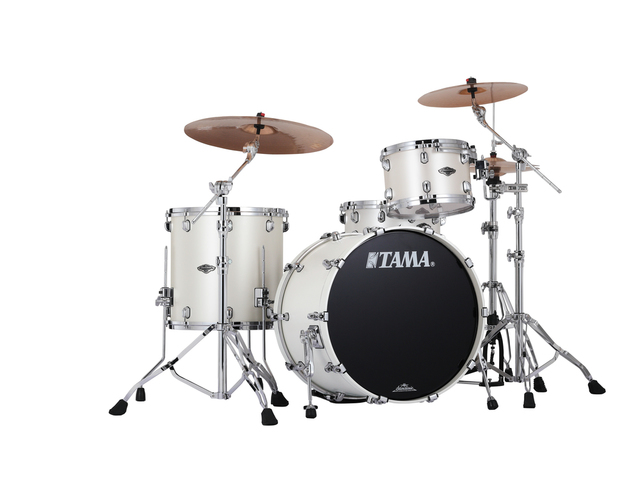 "Shell Set Tama Starclassic Performer B/B PP32RZS-SPW Satin Pearl White, 22"", 12"", 16"", MC69 Tom Houder"