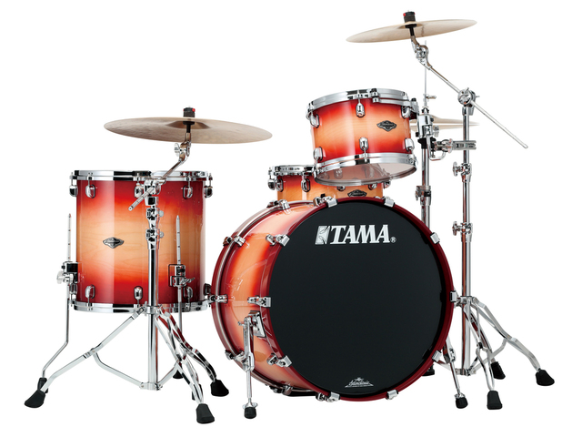 "Shell Set Tama Starclassic Performer B/B PS32RZS-CNT Cherry Natural Burst, 22"", 12"", 16"", MC69 Tom Houder"