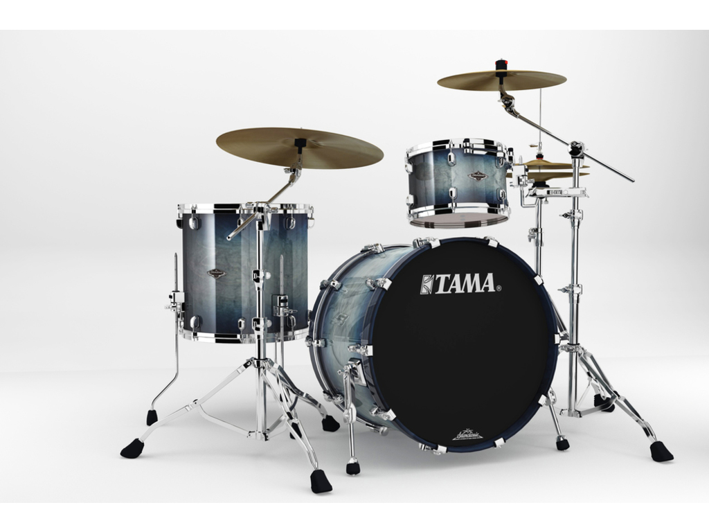 "Shell Set Tama Starclassic Performer B/B PS32RZS-SIB Smoky Indigo Burst, 22"", 12"", 16"", MC69 Tom Houder"