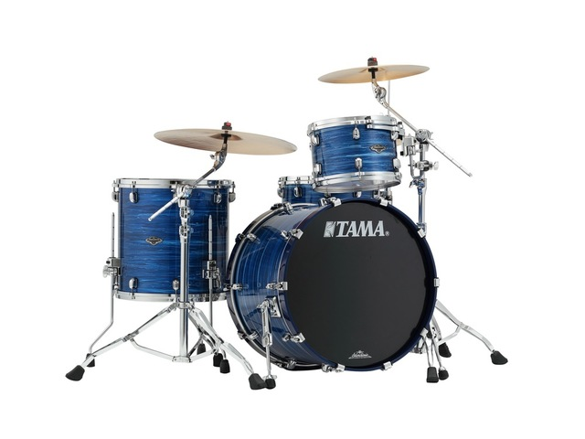 "Shell Set Tama Starclassic Performer B/B PS32RZS-LOR Lacquer Ocean Blue Ripple, 22"", 12"", 16"", MC69 Tom Houder"