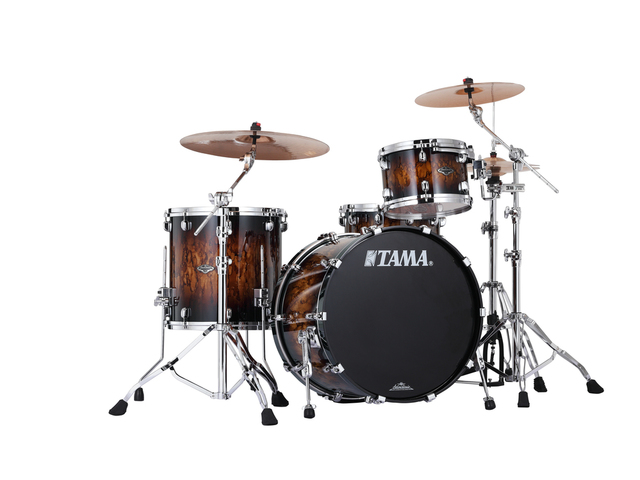 "Shell Set Tama Starclassic Performer B/B PS32RZS-MBR Molten Brown Burst, 22"", 12"", 16"", MC69 Tom Houder"