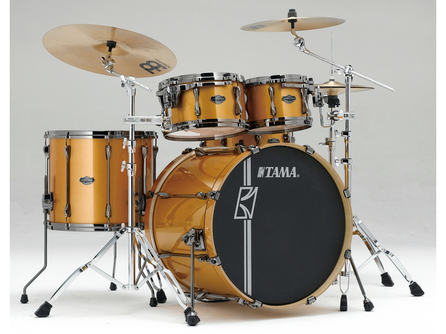 "Shell Set Tama Superstar Hyper-Drive Maple ML42HLZBNS-GYM Golden Yellow Metallic, 22"", 10"", 12"", 16"", MC69 Tom Houder"