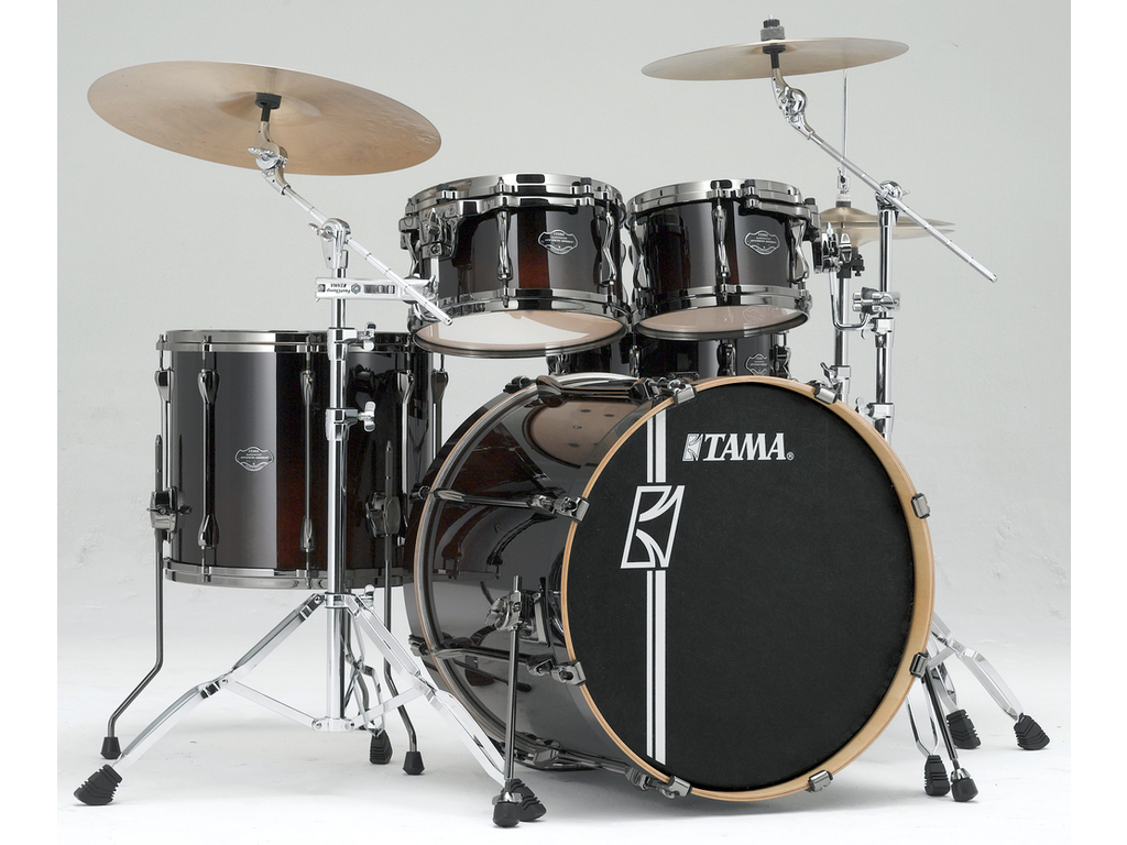 "Shell Set Tama Superstar Hyper-Drive Maple ML42HLZBNS-DMF Dark Mocha Fade, 22"", 10"", 12"", 16"", MC69 Tom Houder"