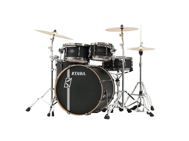 "Shell Set Tama Superstar Hyper-Drive Maple ML42HLZBNS-FBK Flat Black, 22"", 10"", 12"", 16"", MC69 Tom Houder"