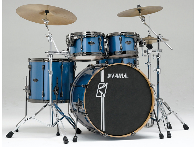 "Shell Set Tama Superstar Hyper-Drive Maple ML42HLZBNS-VBM Vintage Blue Metallic, 22"", 10"", 12"", 16"", MC69 Tom Houder"