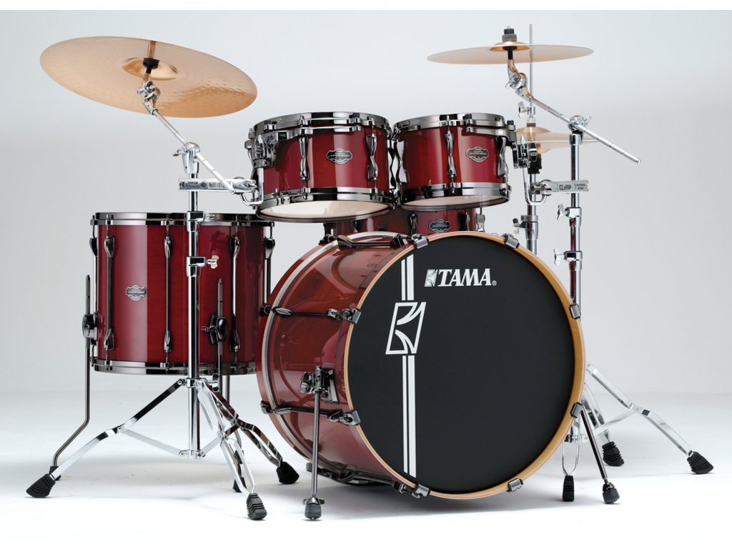 "Shell Set Tama Superstar Hyper-Drive Maple ML42HLZBNS, 22"", 10"", 12"", 16"", met MC69 Tom Houder"