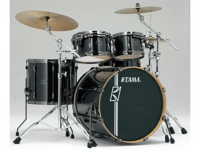 "Shell Set Tama Superstar Hyper-Drive Maple MK42HLZBNS-BCB Brushed Charcoal Black, 22"", 10"", 12"", 16"", MC69 Tom Houder"