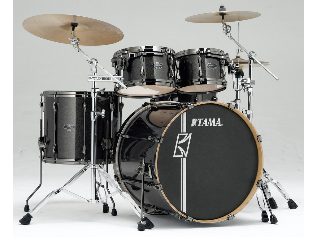 "Shell Set Tama Superstar Hyper-Drive Maple MK42HLZBNS-MGD Midnight Gold Sparkle, 22"", 10"", 12"", 16"", MC69 Tom Houder"