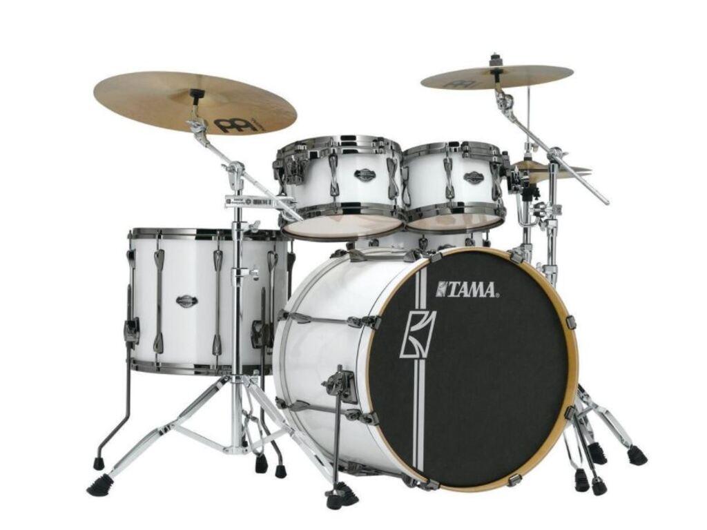"Shell Set Tama Superstar Hyper-Drive Maple MK42HLZBNS-SGW Sugar White, 22"", 10"", 12"", 16"", MC69 Tom Houder"