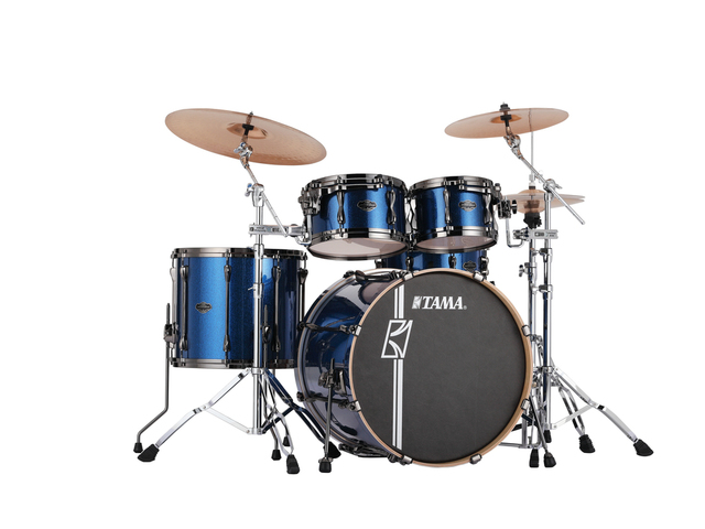 "Shell Set Tama Superstar Hyper-Drive Maple MK42HLZBNS-ISP Indigo Sparkle, 22"", 10"", 12"", 16"", MC69 Tom Houder"