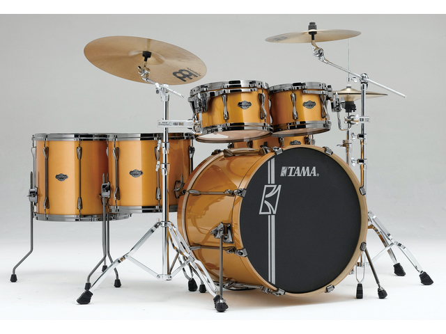 "Shell Set Tama Superstar Hyper-Drive Maple ML52HLZBNS-GYM Golden Yellow Metallic, 22"", 10"", 12"", 14"", 16"", MC69 Tom Houder"