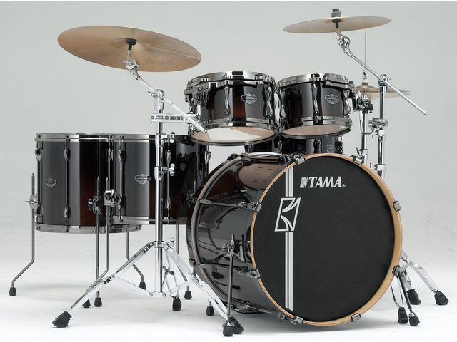 "Shell Set Tama Superstar Hyper-Drive Maple ML52HLZBNS-DMF Dark Mocha Fade, 22"", 10"", 12"", 14"", 16"", MC69 Tom Houder"