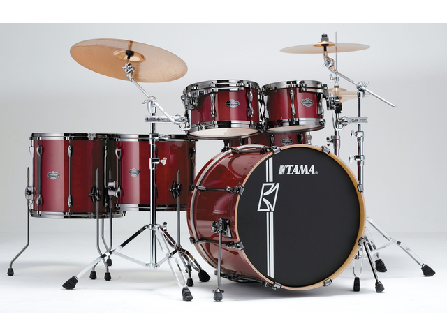 "Shell Set Tama Superstar Hyper-Drive Maple ML52HLZBNS-CCW Classic Cherry Wine, 22"", 10"", 12"", 14"", 16"", MC69 Tom Houder"