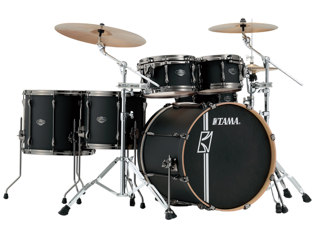 "Shell Set Tama Superstar Hyper-Drive Maple ML52HLZBNS-FBK Flat Black, 22"", 10"", 12"", 14"", 16"", MC69 Tom Houder"