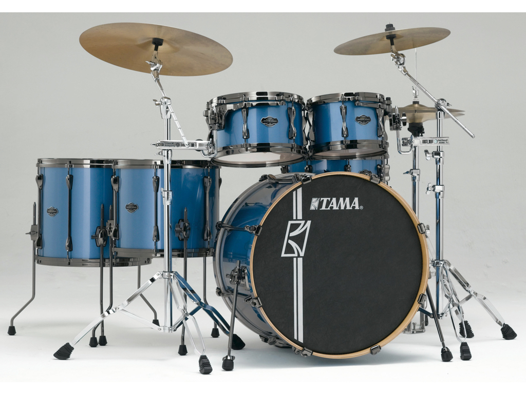 "Shell Set Tama Superstar Hyper-Drive Maple ML52HLZBNS-VBM Vintage Blue Metallic, 22"", 10"", 12"", 14"", 16"", MC69 Tom Houder"