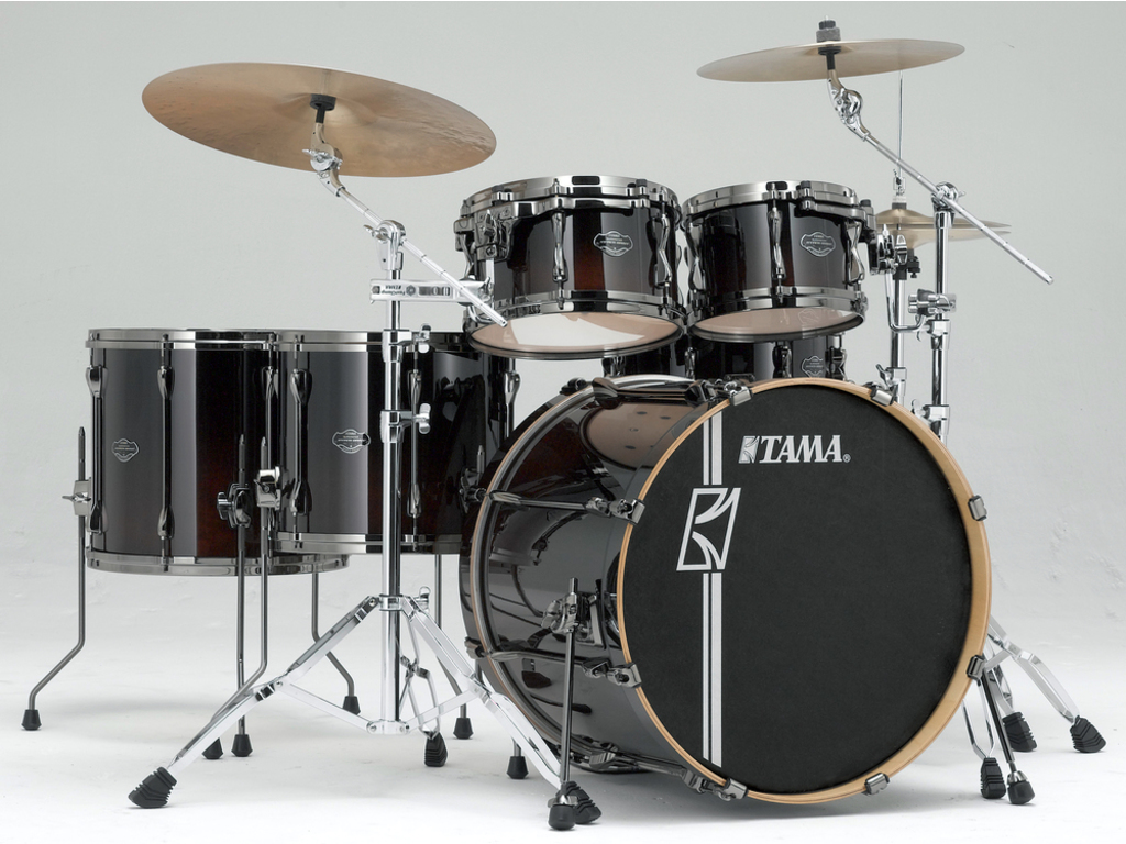 "Shell Set Tama Superstar Hyper-Drive Maple ML52HLZBNS, 22"", 10"", 12"", 14"", 16"", met MC69 Tom Houder"