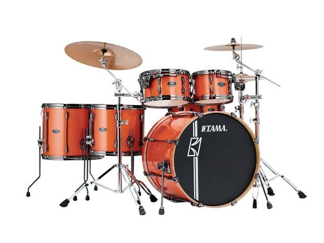 "Shell Set Tama Superstar Hyper-Drive Maple MK52HLZBNS-BOS Bright Orange Sparkle, 22"", 10"", 12"", 14"", 16"", MC69 Tom Houder"