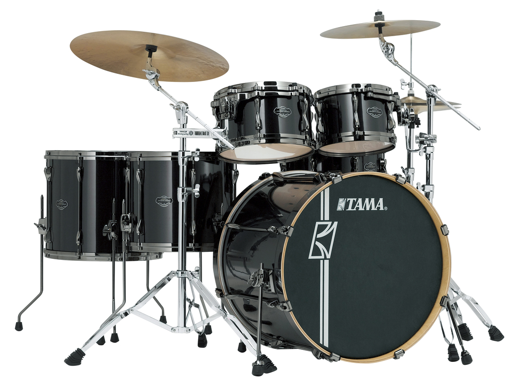 "Shell Set Tama Superstar Hyper-Drive Maple MK52HLZBNS-BCB Brushed Charcoal Black, 22"", 10"", 12"", 14"", 16"", MC69 Tom Houder"