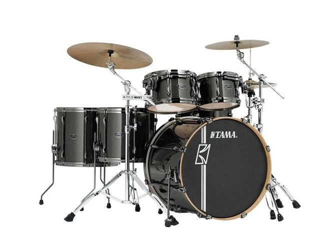 "Shell Set Tama Superstar Hyper-Drive Maple MK52HLZBNS-MGD Midnight Gold Sparkle, 22"", 10"", 12"", 14"", 16"", MC69 Tom Houder"