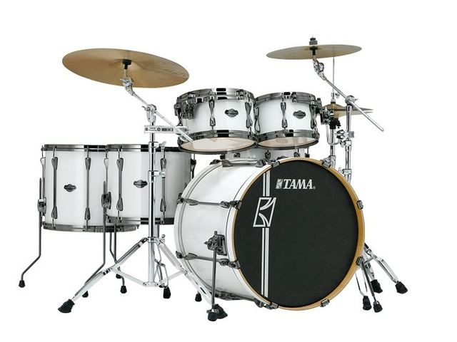 "Shell Set Tama Superstar Hyper-Drive Maple MK52HLZBNS-SGW Sugar White, 22"", 10"", 12"", 14"", 16"", MC69 Tom Houder"