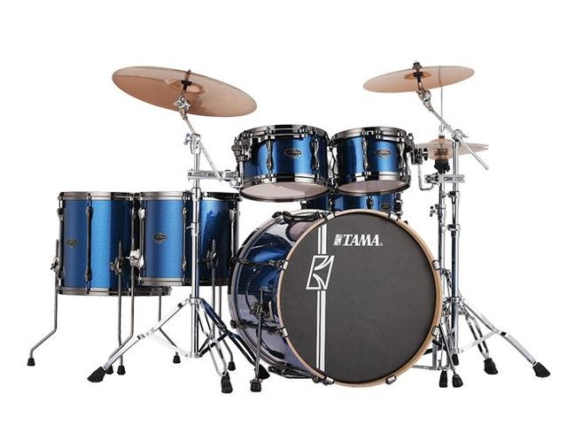 "Shell Set Tama Superstar Hyper-Drive Maple MK52HLZBNS-ISP Indigo Sparkle, 22"", 10"", 12"", 14"", 16"", MC69 Tom Houder"