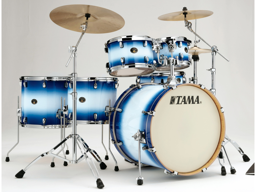 "Shell Set Tama Silverstar VP62RS-JTB Jet Blue Burst, 22"", 10"", 12"",14"", 16"", 14"", Tom houder MTH905N"
