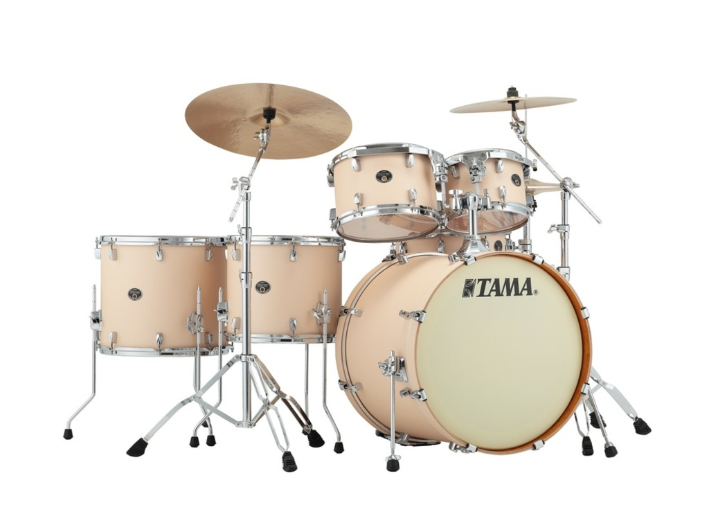 "Shell Set Tama Silverstar VD62RS-MCS Matte Copper Sparkle, 22"", 10"", 12"",14"", 16"", 14"", Tom houder MTH905N"