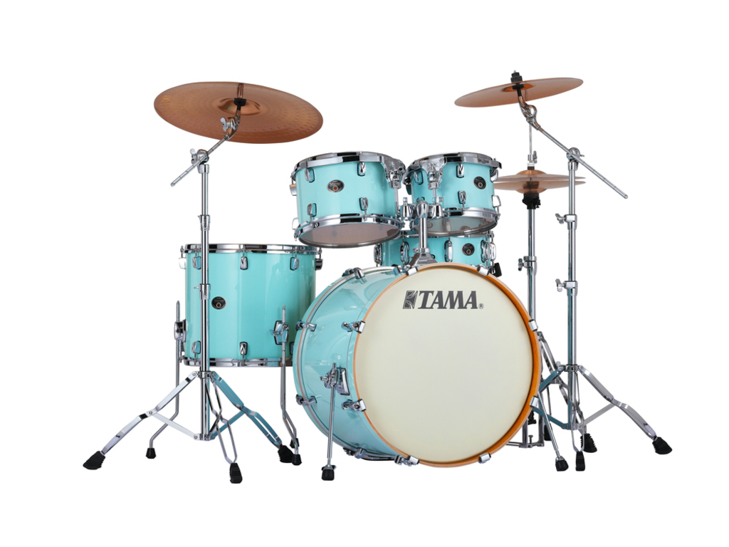 "Shell Set Tama Silverstar VP52KRS-LBL Light Blue Lacquer, 22"", 10"", 12"", 16"", 14"", Tom houder MTH905N"